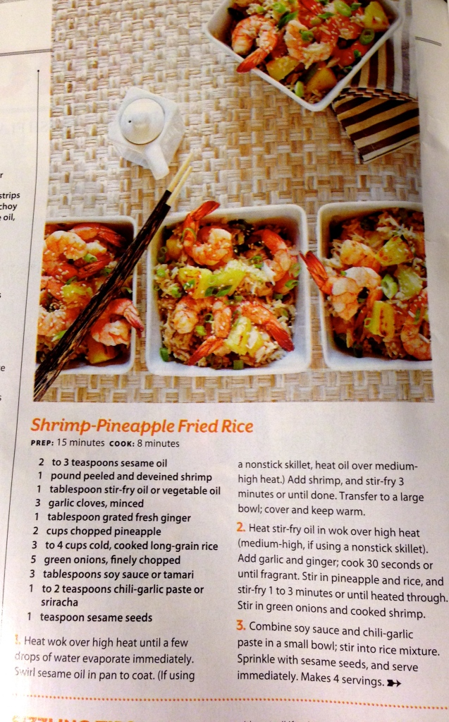 Shrimp-Pineapple Fried Rice recipe