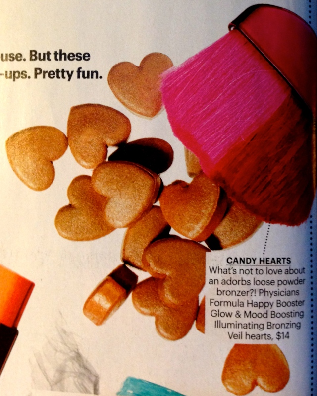 these are hearts are all bronzer thingies... how awesome & cute!