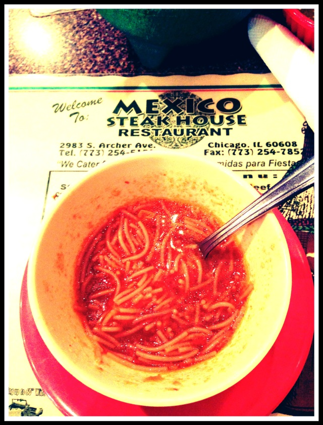 and my most FAVORITE soup ever :] soooo salty and amazing and delicous