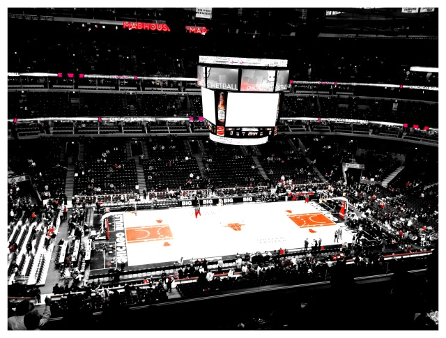 got to the Bulls game nice & early :] so much fun!