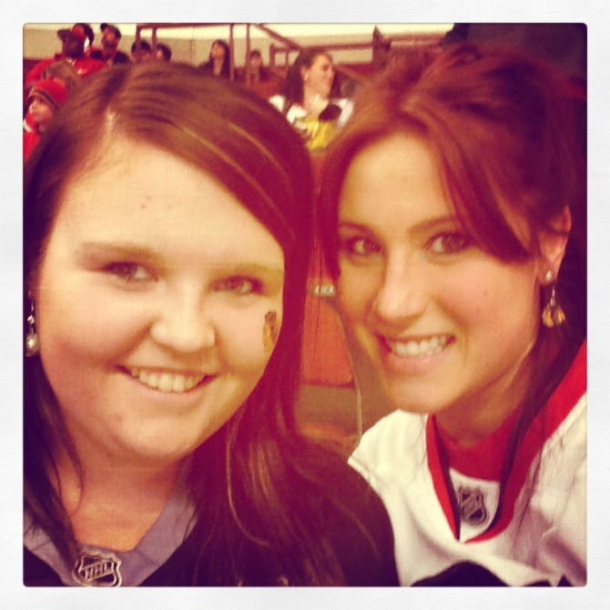 Jordan & I at the Hawks game :]