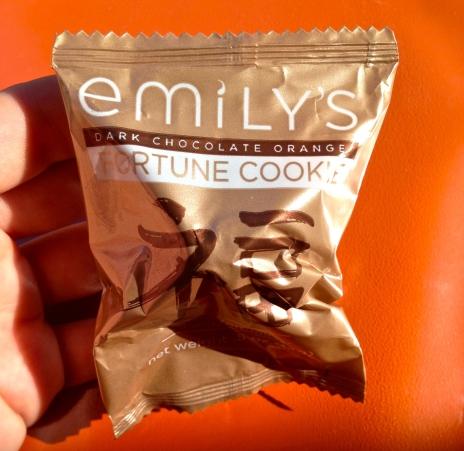 Dark Chocolate Orange Good Fortune Cookie - Emily's Chocolates