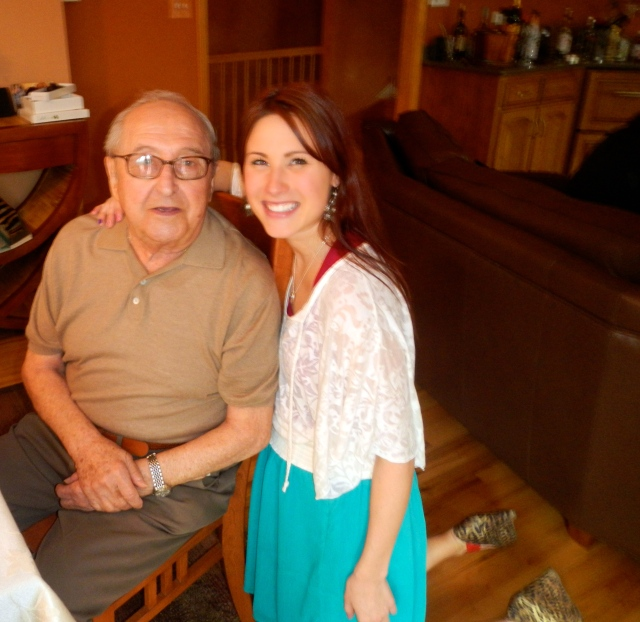 i look strangely disproportionate but i wuv my grampa!